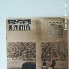 Coleccionismo deportivo: AÑO 1949. DEPORTIVO CORUÑA VS ESPAÑOL Y CELTA VS F. C. BARCELONA. Lote 154650606