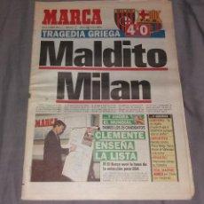 Coleccionismo deportivo: PERIÓDICO MARCA. FINAL CHAMPIONS MILAN 4-BARCELONA 0, 1994 (MALDITO MILÁN). Lote 155006338