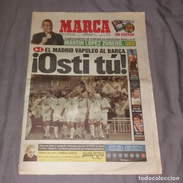 PERIÓDICO MARCA. SUPERCOPA ESPAÑA, REAL MADRID 4-BARCELONA 1, 1997 (OSTI TU) (Coleccionismo Deportivo - Revistas y Periódicos - Marca)