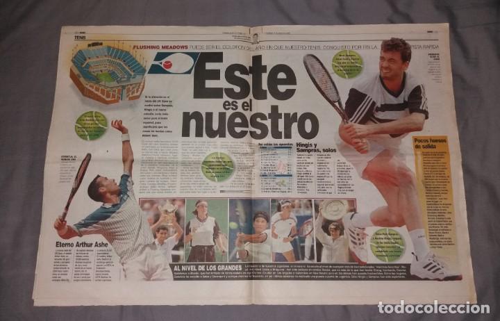 Coleccionismo deportivo: Periódico Marca. Supercopa España, Real Madrid 4-Barcelona 1, 1997 (Osti tu) - Foto 2 - 155006706