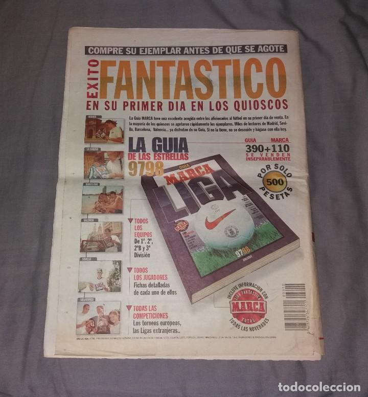 Coleccionismo deportivo: Periódico Marca. Supercopa España, Real Madrid 4-Barcelona 1, 1997 (Osti tu) - Foto 3 - 155006706