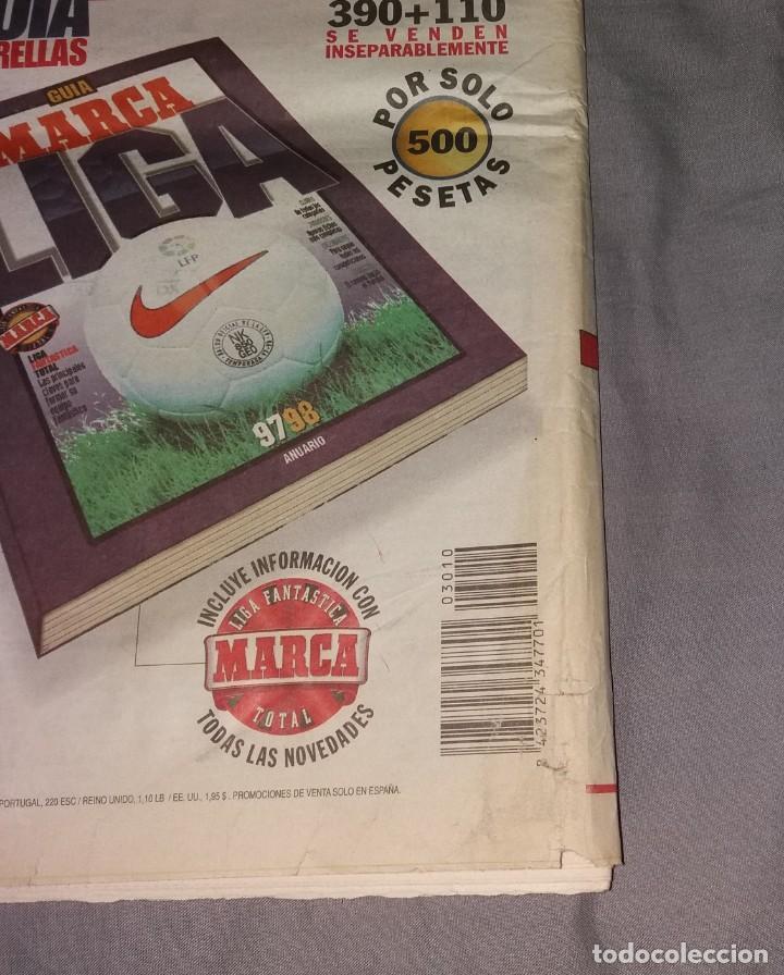 Coleccionismo deportivo: Periódico Marca. Supercopa España, Real Madrid 4-Barcelona 1, 1997 (Osti tu) - Foto 4 - 155006706