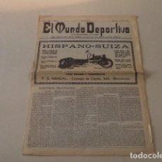Coleccionismo deportivo: EL MUNDO DEPORTIVO Nº 1 - 1 FEBRERO 1906. Lote 155217850