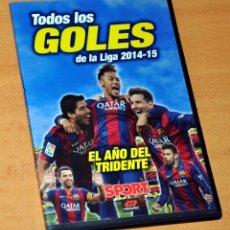 Coleccionismo deportivo: DVD DE 60 MININUTOS: BARÇA, TODOS LOS GOLES DE LA LIGA 2014-15 - DIARIO SPORT - BIEN CONSERVADO. Lote 155357214