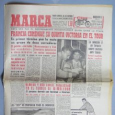 Coleccionismo deportivo: PERIODICO. MARCA. TOUR FRANCIA. BAHAMONTES. 2 JULIO 1959 . Lote 155517254