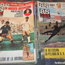 Coleccionismo deportivo: AS COLOR LOTE DE 47 NUMEROS - AÑOS 1971 Y 1972- HISTORIA DEL DEPORTE: FUTBOL, MOTOR, BOXEO, CICLISMO. Lote 155659054