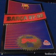 Coleccionismo deportivo: POSTER COLECCION SPORT POSTALES GIGANTES BARÇA 97 - 98 ( CARPETA PARA FICHAS ) . Lote 155701350