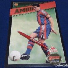 Coleccionismo deportivo: POSTER COLECCION SPORT POSTALES GIGANTES BARÇA 97 - 98 ( AMOR ) LAMINA CON RELIEVE DE 30X21 CM. Lote 155703562