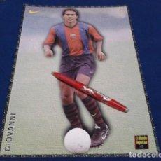 Coleccionismo deportivo: POSTER FICHA EL MUNDO DEPORTIVO 97 - 98 ( GIOVANNI ) LAMINA Nº 23 DE 30 X 21 CM F.C. BARCELONA. Lote 155708046
