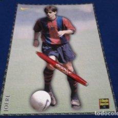 Coleccionismo deportivo: POSTER FICHA EL MUNDO DEPORTIVO 97 - 98 ( JOFRE ) LAMINA Nº 24 DE 30 X 21 CM F.C. BARCELONA. Lote 155708130