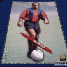 Coleccionismo deportivo: POSTER FICHA EL MUNDO DEPORTIVO 97 - 98 ( SERGI ) LAMINA Nº 7 DE 30 X 21 CM F.C. BARCELONA. Lote 162614325