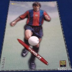 Coleccionismo deportivo: POSTER FICHA EL MUNDO DEPORTIVO 97 - 98 ( NADAL ) LAMINA Nº 8 DE 30 X 21 CM F.C. BARCELONA. Lote 162614364