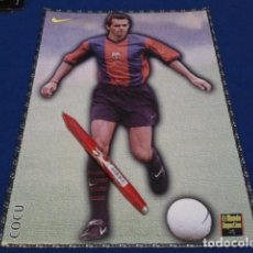 Coleccionismo deportivo: POSTER FICHA EL MUNDO DEPORTIVO 97 - 98 ( COCU ) LAMINA Nº 17 DE 30 X 21 CM F.C. BARCELONA. Lote 155708966
