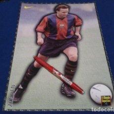 Coleccionismo deportivo: POSTER FICHA EL MUNDO DEPORTIVO 97 - 98 ( ZENDEN ) LAMINA Nº 18 DE 30 X 21 CM F.C. BARCELONA. Lote 155709434