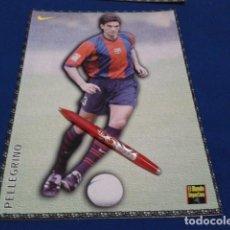 Coleccionismo deportivo: POSTER FICHA EL MUNDO DEPORTIVO 97 - 98 ( PELLEGRINO ) LAMINA Nº 27 DE 30 X 21 CM F.C. BARCELONA. Lote 155709902
