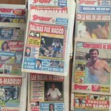 Coleccionismo deportivo: SPORT LOTE DE 60 PERIODICOS DE LOS AÑOS 80 Y 90 EN BUEN ESTADO. Lote 155890142