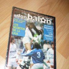 Coleccionismo deportivo: REVISTA DON BALON N' 828 1991 ENTREVISTA LUIS ENRIQUE ESPECIAL MARADONA SEMINARIO REAL ZARAGOZA. Lote 155923418