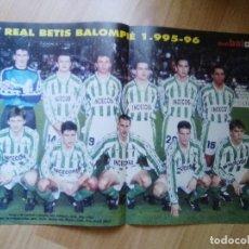 Coleccionismo deportivo: POSTER DON BALON REAL BETIS 95.96. Lote 155924838