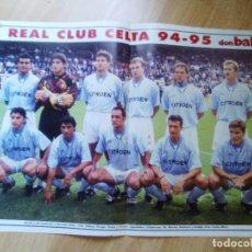 Coleccionismo deportivo: POSTER DON BALON RC CELTA DE VIGO 94.95. Lote 155925346