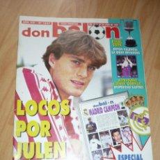 Coleccionismo deportivo: REVISTA DON BALON N' 1027 1995 ESPECIAL REAL MADRID CAMPEON LIGA.ENTREVISTA JULEN GUERRERO. Lote 155957482