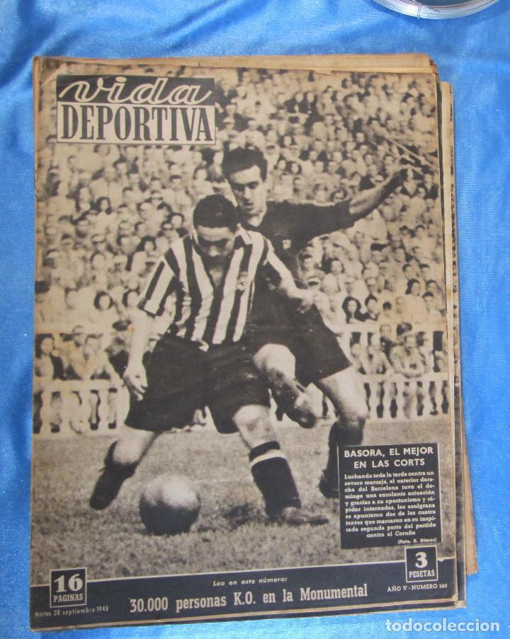 LOTE DE 165 EJEMPLARES DE VIDA DEPORTIVA ENTRE 1948 Y 1958. (Coleccionismo Deportivo - Revistas y Periódicos - Vida Deportiva)