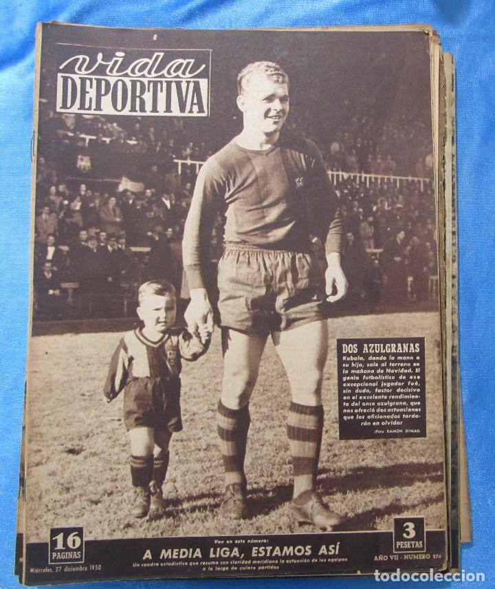 Coleccionismo deportivo: LOTE DE 165 EJEMPLARES DE VIDA DEPORTIVA ENTRE 1948 Y 1958. - Foto 2 - 156058286
