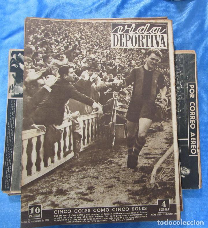 Coleccionismo deportivo: LOTE DE 165 EJEMPLARES DE VIDA DEPORTIVA ENTRE 1948 Y 1958. - Foto 4 - 156058286