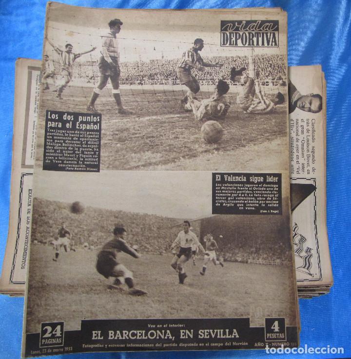 Coleccionismo deportivo: LOTE DE 165 EJEMPLARES DE VIDA DEPORTIVA ENTRE 1948 Y 1958. - Foto 6 - 156058286