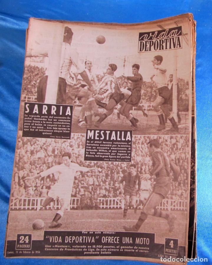 Coleccionismo deportivo: LOTE DE 165 EJEMPLARES DE VIDA DEPORTIVA ENTRE 1948 Y 1958. - Foto 7 - 156058286