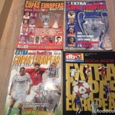 Coleccionismo deportivo: LOTE 4 EXTRAS DON BALÓN COPAS EUROPEAS . Lote 156125518