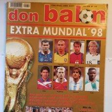 Coleccionismo deportivo: REVISTA DON BALÓN EXTRA MUNDIAL 98.. Lote 156537824