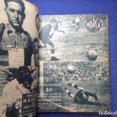 Colecionismo desportivo: 1 TOMO ENCUADERNADO MARCA SUPLEMENTO GRAFICO DE LOS MARTES AÑOS 40. Lote 156648966