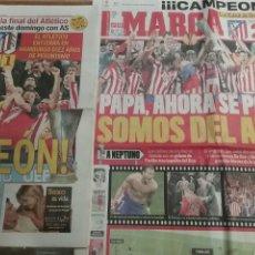 Coleccionismo deportivo: LOTE PERIÓDICOS ATLÉTICO MADRID CAMPEÓN. Lote 107216748