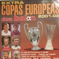 Coleccionismo deportivo: REVISTA DON BALÓN EXTRA COPAS EUROPEAS 2001-02. Lote 157139792
