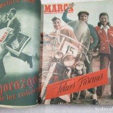 Coleccionismo deportivo: MARCA, SEMANARIO GRÁFICO DE LOS DEPORTES - 25 EJEMPLARES Nº 470/494, DIC 1951/MAYO 1952 + INFO. Lote 158291766