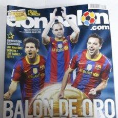 Coleccionismo deportivo: 13839 DON BALON - DICIEMBRE DE 2010 - Nº 1833 - CON POSTER DEL ALCORCON. Lote 158506766