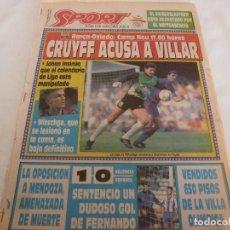 Coleccionismo deportivo: SPORT(6-10-91)JOHAN CRUYFF,MARADONA NIEGA SEPARACIÓN,VALENCIA 1 ESPAÑOL 0,ARCARONS.. Lote 158579998
