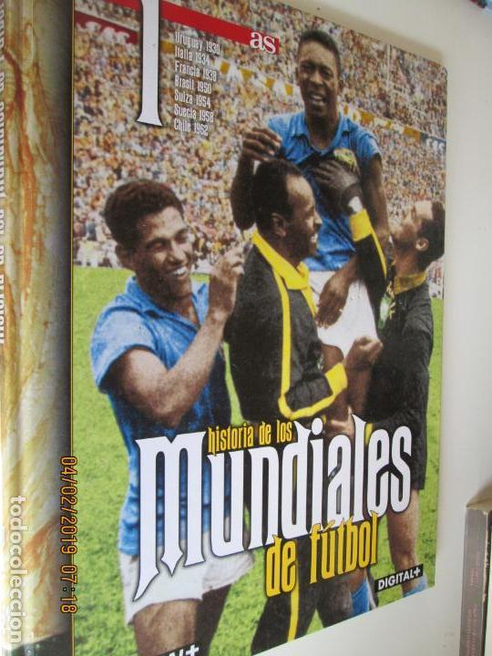 HISTORIA DE LOS MUNDIALES DE FUTBOL, AS Nº - 1-2-3 , AÑOS 1930 AL 2002 , CANAL+ DIGITAL+ (Coleccionismo Deportivo - Revistas y Periódicos - As)