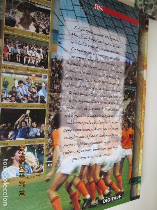 Coleccionismo deportivo: HISTORIA DE LOS MUNDIALES DE FUTBOL, AS Nº - 1-2-3 , AÑOS 1930 AL 2002 , CANAL+ DIGITAL+ - Foto 4 - 158653290