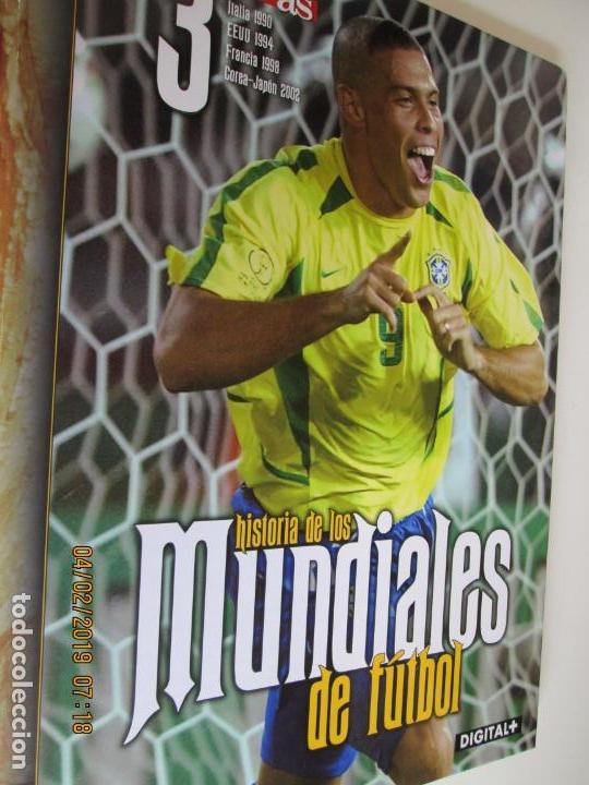 Coleccionismo deportivo: HISTORIA DE LOS MUNDIALES DE FUTBOL, AS Nº - 1-2-3 , AÑOS 1930 AL 2002 , CANAL+ DIGITAL+ - Foto 5 - 158653290