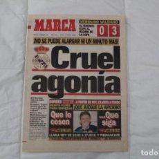 Coleccionismo deportivo: DIARIO MARCA. 2 DE FEBRERO 1994 CRUEL AGONÍA. REAL MADRID TENERIFE 0-3. INDURÁIN EL AÑO DEL RECORD. Lote 158701618