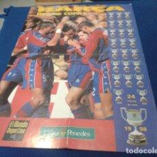Coleccionismo deportivo: POSTER F.C.BARCELONA 1998 ( BARÇA REY DE COPAS ) 24 TITULOS DE COPA DE LA REVISTA EL MUNDO DEPORTIVO. Lote 158703782