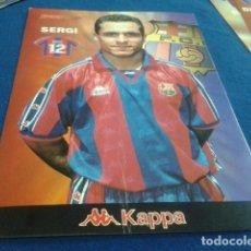 Coleccionismo deportivo: POSTER LAMINA CARTON SPORT F.C.BARCELONA ( SEGI Nº 12 ) PUBLICIDAD KAPPA. Lote 158722518