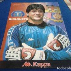 Coleccionismo deportivo: POSTER LAMINA CARTON SPORT F.C.BARCELONA ( BUSQUETS Nº 1 ) KAPPA. Lote 158722754
