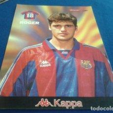 Coleccionismo deportivo: POSTER LAMINA CARTON SPORT F.C.BARCELONA ( ROGER Nº 18 ) KAPPA. Lote 158723178