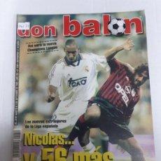 Coleccionismo deportivo: 14171 DON BALON - AGOSTO-SEPTIEMBRE DE 1999 - Nº 1246 - CON POSTER DEL ZARAGOZA . Lote 159009550