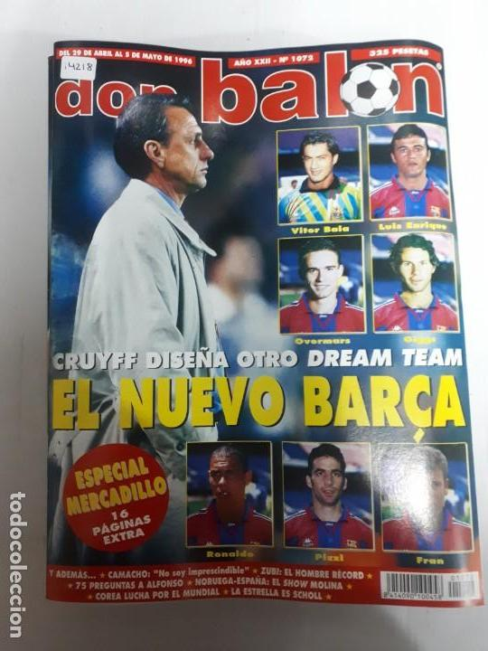 14218 DON BALON - ABRIL-MAYO DE 1996 - Nº 1072 - CON POSTER DEL REAL ZARAGOZA (Coleccionismo Deportivo - Revistas y Periódicos - Don Balón)