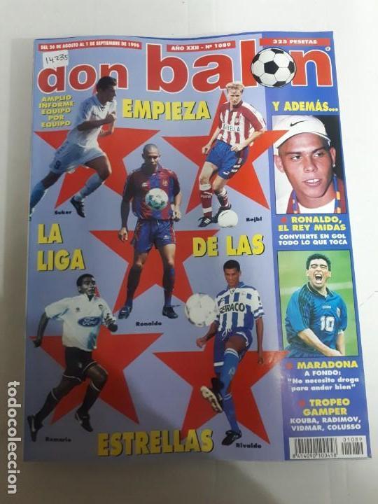 14235 DON BALON - AGOSTO-SEPTIEMBRE DE 1996 - Nº 1089 (Coleccionismo Deportivo - Revistas y Periódicos - Don Balón)