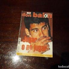 Coleccionismo deportivo: REVISTA DON BALON Nº 1350 -POSTER REAL MADRID CAMPEÓN DE LA SUPERCOPA AÑO 2001. -GUARDIOLA -. Lote 159068282