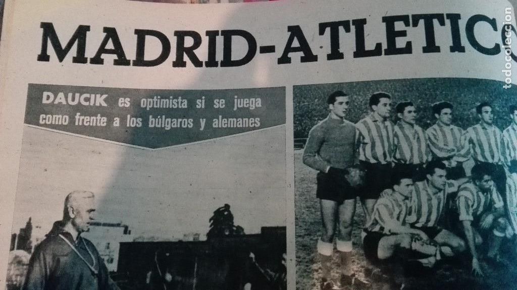 Coleccionismo deportivo: DIARIO MARCA, BARCELONA CAMPEON LIGA 1958-59, REAL MADRID, ATLETICO, DERBI!!!!!! - Foto 9 - 28654011